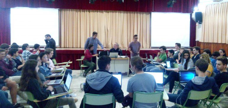 Tres peticiones realizadas por alumnos del Colegio San Francisco de Paula de #Sevilla admitidas en el Parlamento Europeo